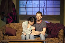 JOHN LAMB - Close encounters: Sarah Cannon and Tyler Whiteman in Stray Dog's Dark Matters.