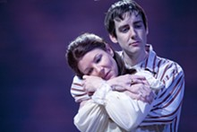 JOHN LAMB - Michelle Hand and Robert Thibaut in New Jewish Theatre's The Immigrant.