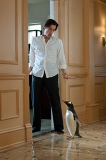 Jim Carrey warms up to the Antarctic type in Mr. Popper's Penguins.