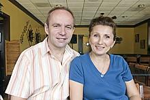 JENNIFER SILVERBERG - Laganini owners Edo and Aysha Sadikovic.