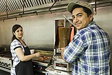 JENNIFER SILVERBERG - South Grand Gyro Express Owners Tamana and Kahled Nagshbandi.