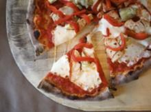 JENNIFER SILVERBERG - 'The Tivoli': tomato sauce, artichoke hearts, chicken, red peppers and fresh mozzarella.