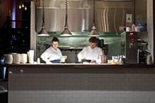 LAURA ANN MMILLER - Merritt Duncan and Adam Altnether in the Taste kitchen.  For a slideshow on Taste by Laura Ann Miller, go here.