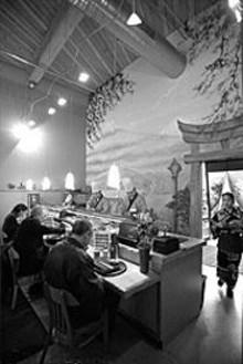 JENNIFER  SILVERBERG - Understated elegance: the sushi bar at Wasabi