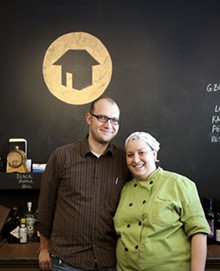 JENNIFER SILVERBERG - Husband-and-wife owners of Home Wine Kitchen, Josh Renbarger and chef Cassy Vires.