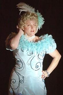 JOHN LAMB - Kim Furlow as Mae West in Dirty Blonde.