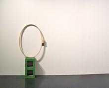 From Jillian Conrad's On Tenterhooks installation at Webster University's Cecille R. Hunt Gallery.