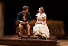 ERIC WOOLSEY - Tim McKiernan as Tom Sawyer and Hayley Treider as Becky Thatcher in the Rep's The Adventures of Tom Sawyer.