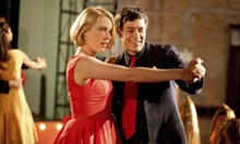 SONY PICTURES CLASSICS - Greta Gerwig and Adam Brody go old-school at Seven Oaks College in Damsels.
