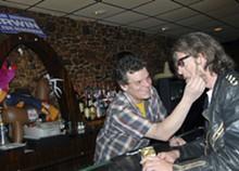 MEGAN GILLILAND - Johnny Vegas gives shaving tips to Fred Friction.