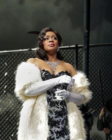 KEN HOWARD - Kendall Gladen as Carmen in Opera Theatre of Saint Louis' first production of the year.