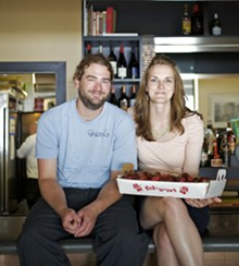 JENNIFER SILVERBERG - Farmhaus' Kevin Willmann with girlfriend and front-of-the-house manager, Jessica Hanzlick.
