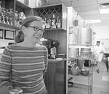 JENNIFER  SILVERBERG - Though Atlas co-proprietor Jean Donnelly does occasionally revel in slicing and dicing, her unofficial job title is front-of-house manager/staff manager/wine buyer/bookkeeper.