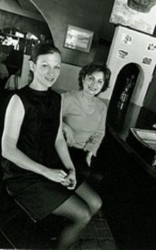 JENNIFER  SILVERBERG - Rita Weaver (right) and future daughter-in-law Gina Kardos of the European Caffé