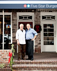 JENNIFER SILVERBERG - Five Star Burgers owner Steve Gontram (right) with his father, Bob.More photos from Five Star Burgers here.