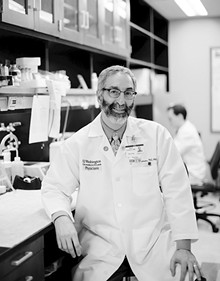 "JENNIFER SILVERBERG - Dr. David Gutmann in the lab. He has been studying NF1 for more than twenty years. Slideshow: Kids with NF1 and their families at ""Club NF"""