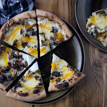 "JENNIFER SILVERBERG - The ""Donald"" is a wood-fired pizza with wild mushrooms, duck egg and truffles. Slideshow: Inside Basso at the Cheshire Inn"