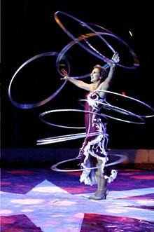 COURTESY CIRCUS FLORA - Alesya Gulevich at Circus Flora.