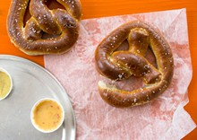 JENNIFER SILVERBERG - Flying Saucer's soft pretzels come buttered, salted and toasted. Slideshow: Photos from Inside Flying Saucer