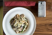 COREY WOODRUFF - Duck stroganoff with wild mushrooms. Slideshow: Inside Alumni St. Louis Downtown.
