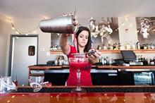 """JENNIFER SILVERBERG - Bartender Allison Messerla crafts a """"Rosa Mexicana."""" Slideshow: Inside Gringo in the Central West End"""