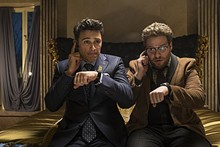 ED ARAQUEL/© 2013 CTMG, INC. - James Franco and Seth Rogen in The Interview.