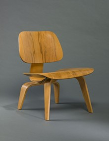 Designed by Charles Eames and Ray Kaiser Eames, manufactured by Herman Miller Furniture Company, Lounge Chair Wood (LCW), designed 1946; Saint Louis Art Museum, Gift of Tom and Jean Wolff in memory of Charles Eames 47:1985; © Eames Office, LLC