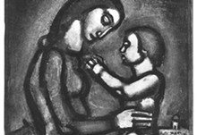 Georges Rouault, Wars, detested by mothers, Plate no. 42 from Miserere et Guerre, 1927. Etching. MOCRA collection.