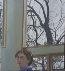 Winter Afternoon (Self-Portrait), 2010-11 - Oil on canvas - 21.25 x 25 inches - Courtesy Stephen W. Skrainka
