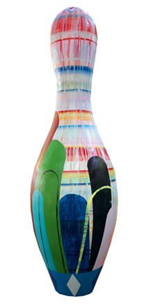 Hoffman LaChance Fine Art's decorated bowling pin.