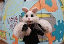 """""""Easter Bunny Assasin"""" -- he's a baaaaad rabbit."""