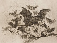 Francisco José de Goya y Lucientes, Spanish, 1746-1828; plates from portfolio The Disasters of War, 1810-1820, published 1863; etching and lavis; 8 1/2 x 14 1/4 x 1 3/8 inches; Saint Louis Art Museum, The Marian Cronheim Trust for Prints and Drawings 7:2015