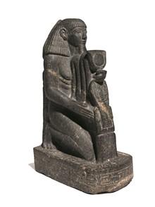 BROOKLYN MUSEUM - Senenmut, ca. 1478-1458 BCE. Granite. Brooklyn Museum, Charles Edwin Wilbour Fund, 67.68.