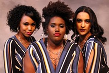 COURTESY STRAY DOG THEATRE - Tateonna Thompson, Ebony Easter and Eleanor Humphrey star as the Dreamettes in Dreamgirls.