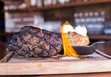 MABEL SUEN - Bone-in ribeye at Hamilton's Urban Steakhouse & Bourbon Bar.