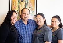 MABEL SUEN - Bertha Lopez, Miguel Lopez, Angelica Lopez and Yesenia Lopez.