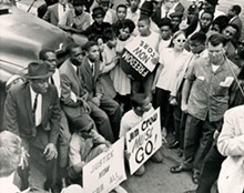 THE ST. LOUIS AMERICAN - Jefferson Bank and Trust Co. Protest, October 1963. St. Louis American image.