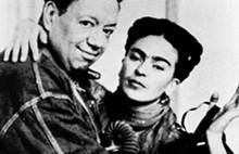 Nickolas Muray. Diego y Frida.. San Ángel, ciudad de México, 1938 Impresión moderna.