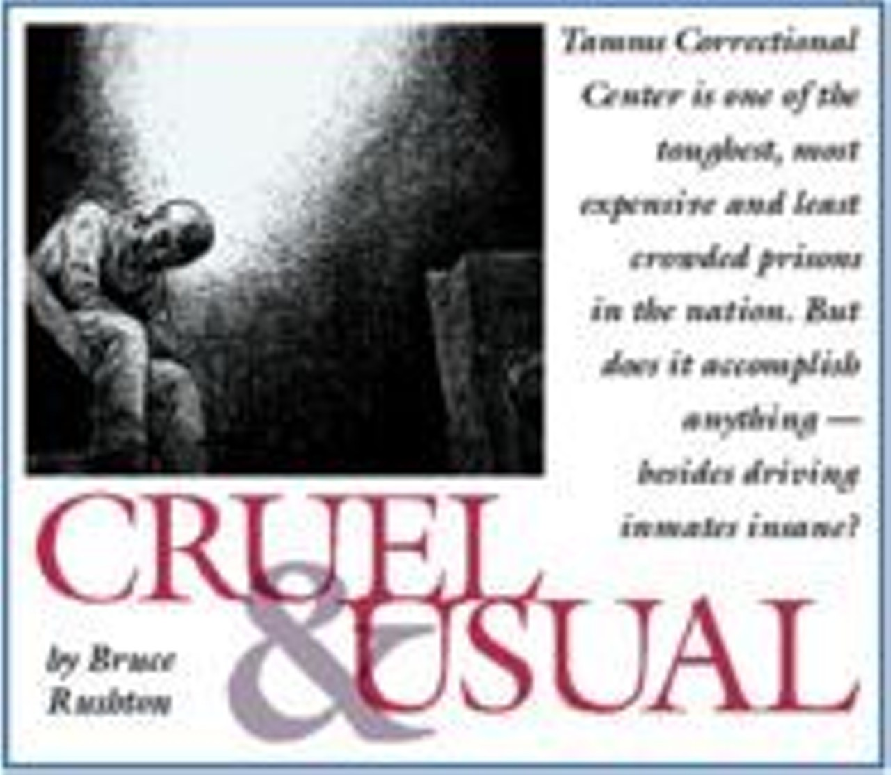 Cruel and Usual | Feature | St. Louis News and Events | Riverfront Times