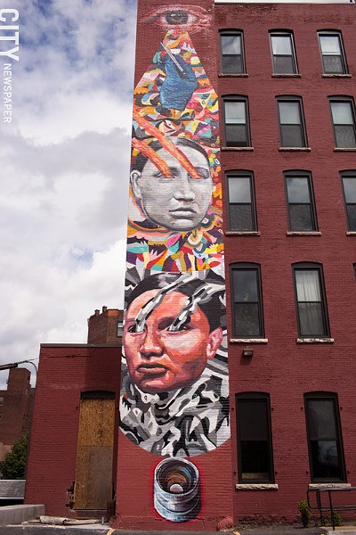 2013 collaborative mural by Ever and Gaia at 214 Andrews Street. - FILE PHOTO