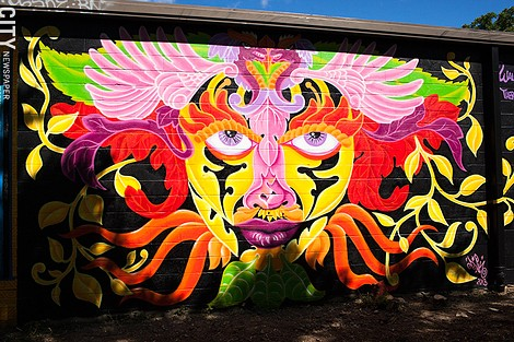 2013 mural by Lady Pink along the El Camino Trail. - FILE PHOTO