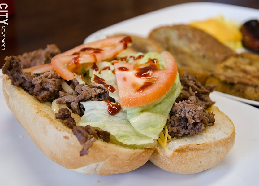 A beef bulgogi sandwich. - PHOTO BY MARK CHAMBERLIN