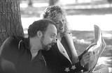 "A bottle of wine between them: PaulGiammatti and Virginia Madsen in ""Sideways."""