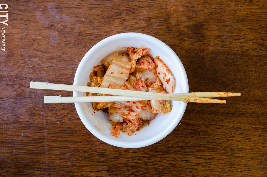 A bowl of kimchi. - PHOTO BY MARK CHAMBERLIN