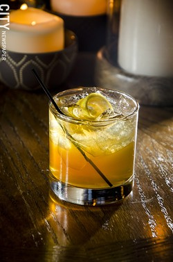 A Bukowski cocktail uses whiskey, chartreuse, Fernet Branca, and Tobacco syrup - PHOTO BY MARK CHAMBERLIN
