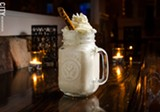 A caramel pretzel milkshake from Fraiche Bistro. - PHOTO BY MARK CHAMBERLIN