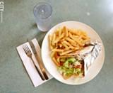 A chicken gyro pita at Mark's Texas Hots. - PHOTO BY LARISSA COE