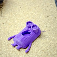 """[ Slideshow ] Makerspace A completed """"minion."""" PHOTO BY MARK CHAMBERLIN"""