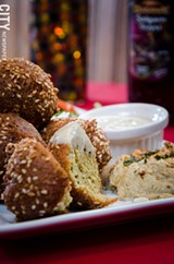 A falafel platter from Rumi's. - PHOTO BY MARK CHAMBERLIN
