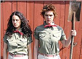 """A frisky pair: Anna Chatterton and Evalyn Parry in """"Clean Irene and Dirty Maxine."""""""